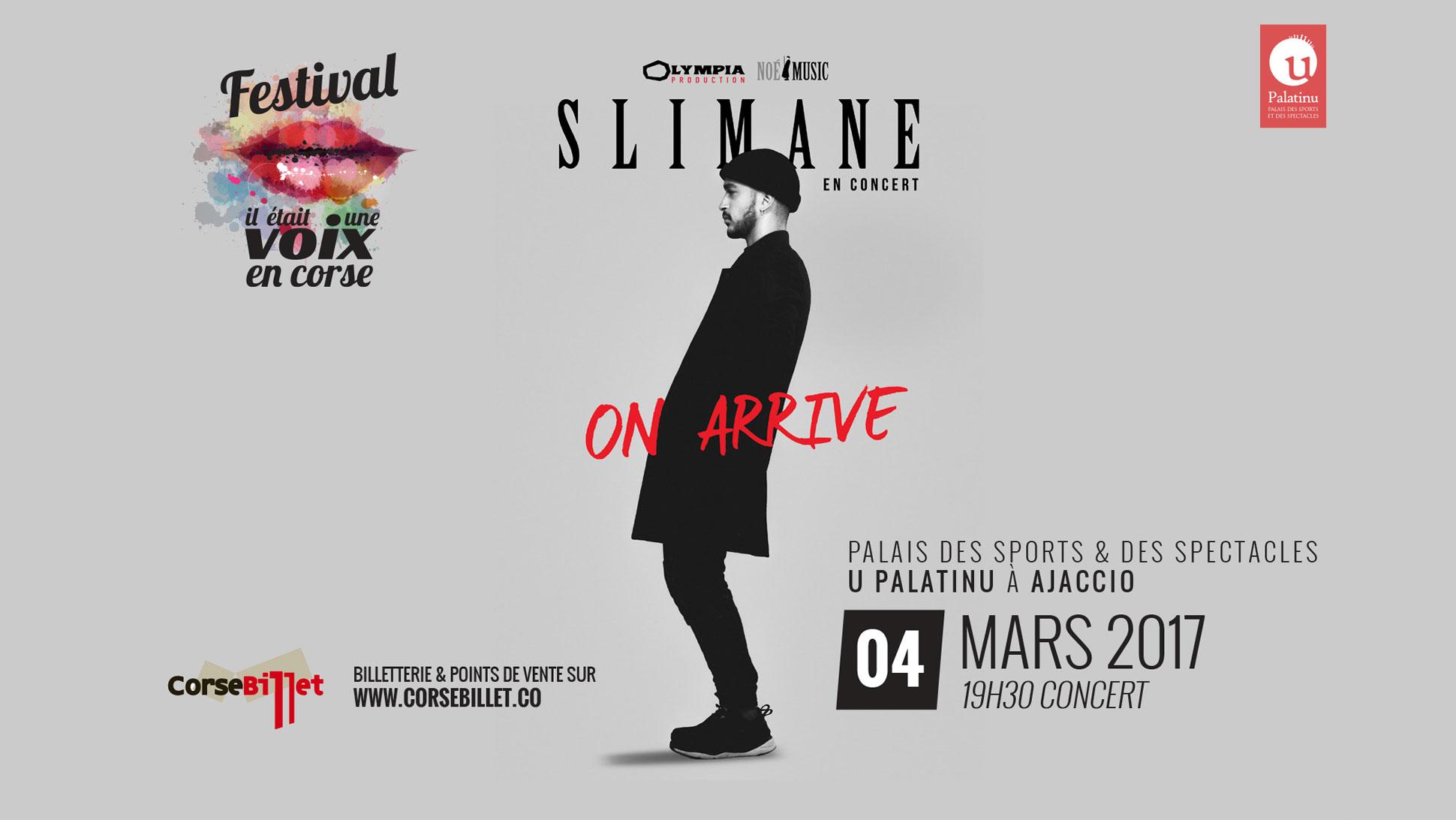 Slimane en Concert à Ajaccio le 04 mars